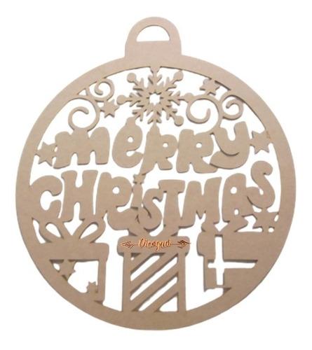 Imagen 1 de 1 de Corona Esfera Navideña Merry Christmas Decoración Navidad
