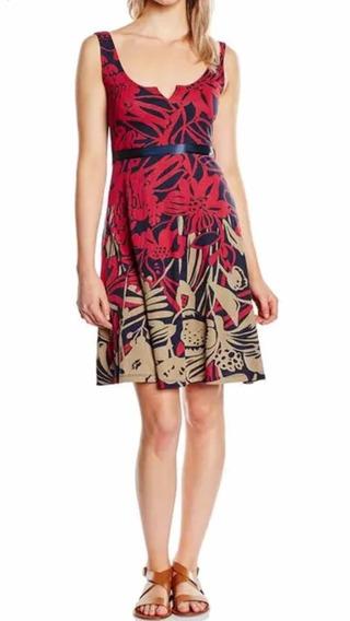 Desigual Vestido Nuevo M Rojo Azul Envío Gratis