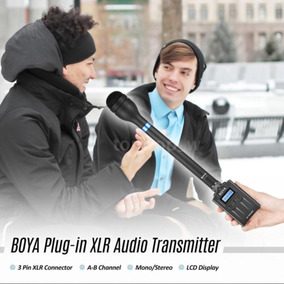 Kit Microfone De Mão Boya + Receptor + Transmissor Duplo Boy