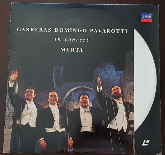 Laserdisc Carreras Domingo Pavarotti In Concert Mehta