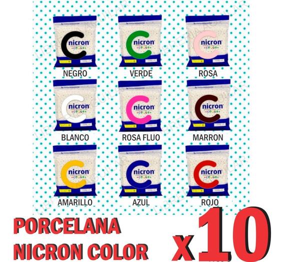 10 Paquetes Porcelana Fria Nicron De Color A Eleccion