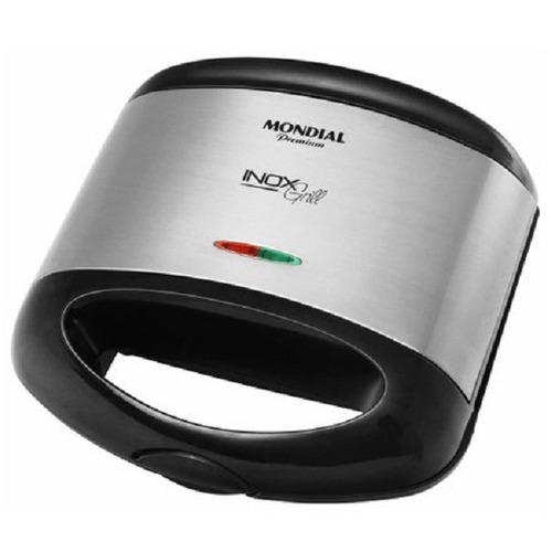 Imagem 1 de 2 de Grill E Sanduicheira Inox Premium S-07 - 110v - Mondial