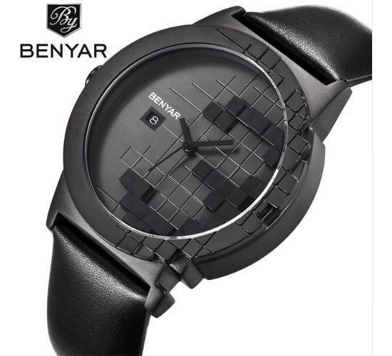 Relógio Masculino-homem-pulseira De Couro-luxo