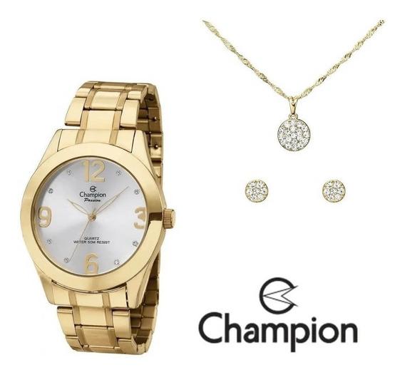 Relógio Champion Feminino Ch24268d + Colar