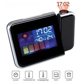 Reloj Despertador Digital, Termómetro, Higrómetro, Proyector