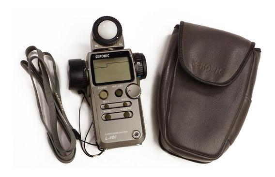 Fotômetro Sekonic L-608 Super Zoom Master Spot Flashmeter