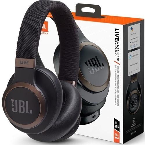 Fone Jbl Live 650bt Nc Bluetooth Com Cancelamento De Ruídos