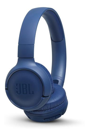 Fone De Ouvido Sem Fio Jbl T500 Bt Azul Bluetooth 500bt Ear