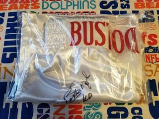 Calção Autografado Do Campeão De Boxe James Buster Douglas