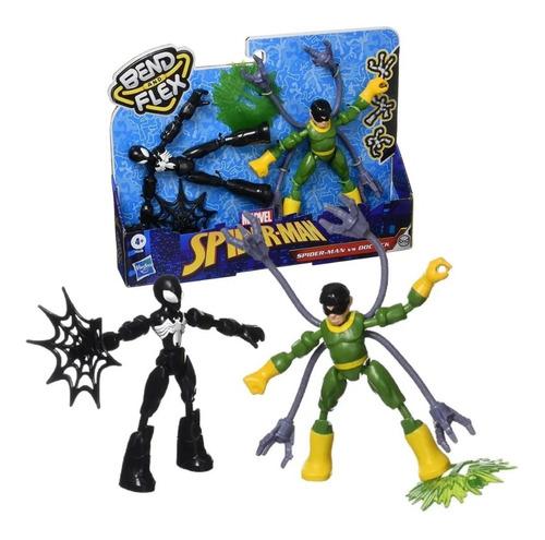 Imagem 1 de 6 de Bonecos Marvel Bend And Flex Spider Man Vs Doc Ock Hasbro