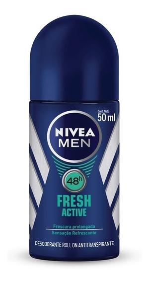 Desodorante Nivea For Men Fresh Active 48h Rollon 50ml