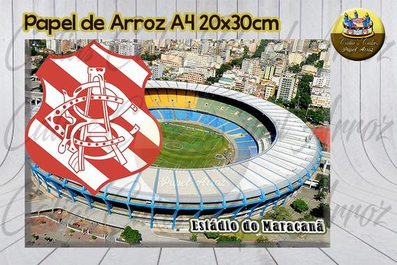 Bangu Atlético Clube Rj Papel De Arroz Comestível A4
