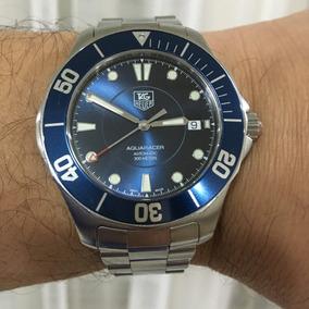 Tag Heuer Blue Aquarecer Autom Safira 300m Vale + De 10 Mil