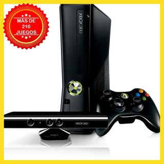 ** Xbox 360 Más De 210 Juegos, Kinect Regalo Y Emuladores **