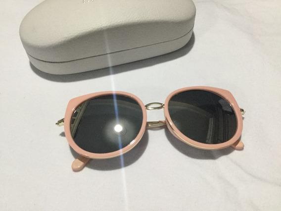 Óculos De Sol Rosa Espelhado Málagah Kids Uv400
