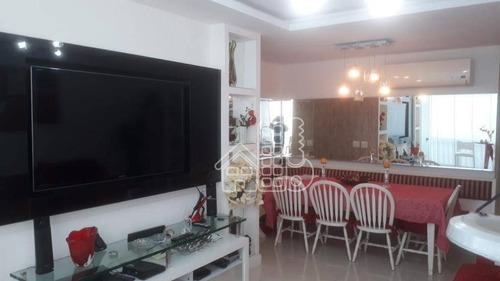Apartamento Com 2 Dormitórios À Venda, 86 M² Por R$ 650.000,00 - Icaraí - Niterói/rj - Ap2789