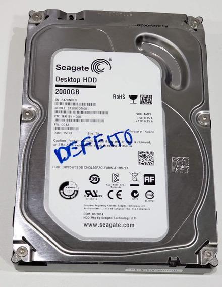 Hd Seagate Desktop 2tb St2000dm001-1er164 C/ Bad Block