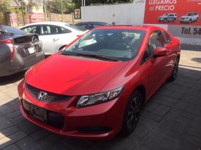 Honda Civic 2.0 Ex Coupe . At 2013 Rojo