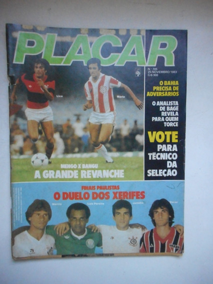 Revista Placar Nº 705 - Nov/1983 - Inter / Bangu / Flamengo