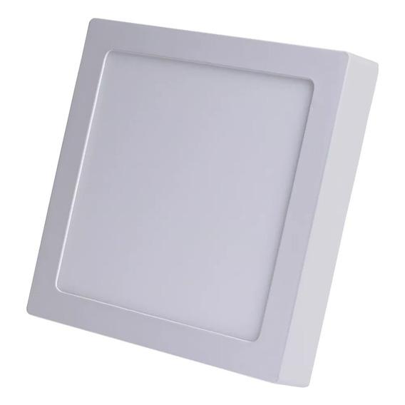 Kit Com 5 Plafon Painel Quadrado De Sobrepor Em Led 24w