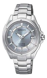Reloj Dama Citizen Fe6040-59m Ecodrive Titanio Agenoficial M