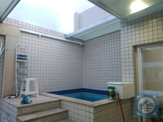 Cobertura Com 2 Dormitórios À Venda, 160 M² Por R$ 530.000 - Campo Grande - Santos/sp - Co0106