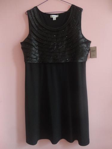 Imagen 1 de 3 de Vestido Talla L Xl Elegante Negro Nuevo Con Etiquetas