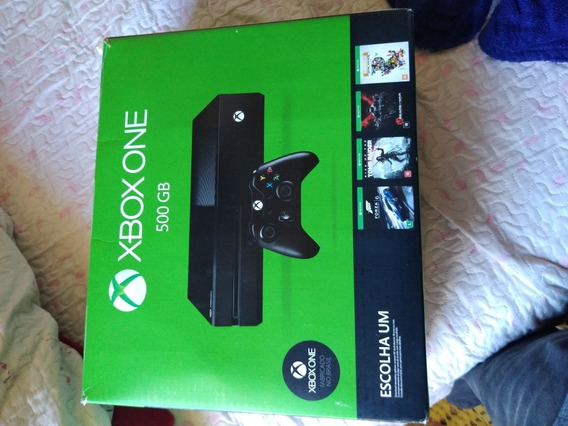 Xbox One Preto Com 02 Controles Originais