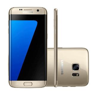 Smartphone Samsung Galaxy S7 Edge Dourado 32gb Octa-core Te