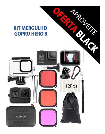 Kit Mergulho, Filtros, Case, Proteção Gopro Hero 8