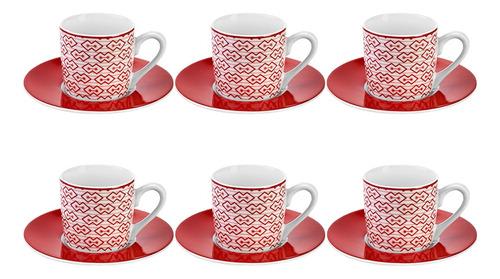 Jogo De Xícaras Para Café Chá Nespresso Mosaic 90ml 12 Peças
