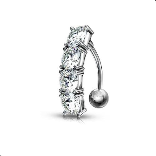 Imagen 1 de 4 de Piercing Invertido Strass De Ombligo -  Piercing Argentina ®