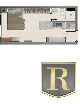 Apartamento Para Venda Em Guarapuava, Centro, 1 Dormitório, 1 Banheiro, 1 Vaga - _2-451800