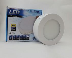 Kit C/5 Luminária Plafon Led 6w Sobrepor Redonda