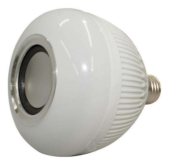 Lampada Musical Caixa Som Bluetooth Led Rgb Com Controle E27