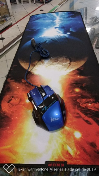Mouse Gamer Óptico 7 Gaming 2400dpi + Mouse Pad Gamer