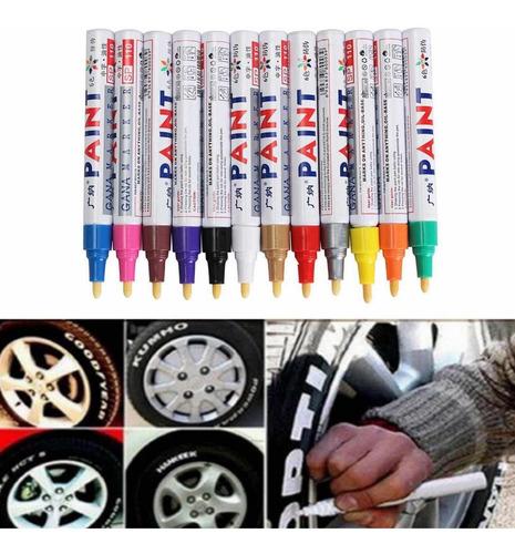 Imagen 1 de 7 de Pack X 3 Marcador Pintura Para Neumáticos Color Blancos