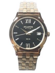 Relogio Feminino Atlantis G3040 Dourado Fundo Preto