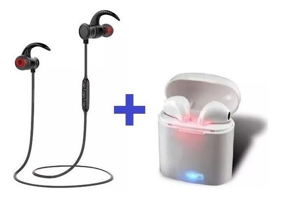 Fone Bluetooth Auricular Kit Awei Ak5 + Fone I7s C/ Case