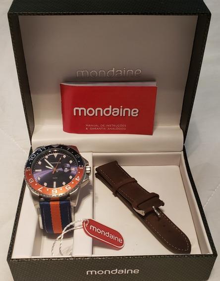Kit Relógio Mondaine Masculino Troca Pulseiras 94785g0mvnj4