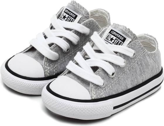 Tênis Converse All Star Kids Aco Cinza Ck05360002