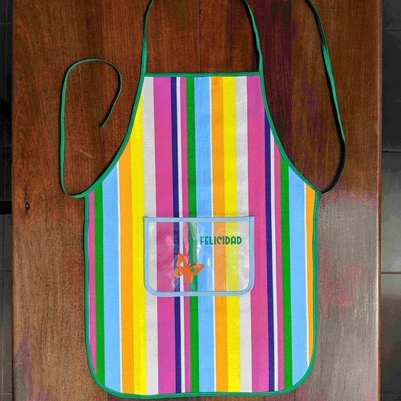 Delantal De Cocina Lona Grande Bolsillo Varios Modelos