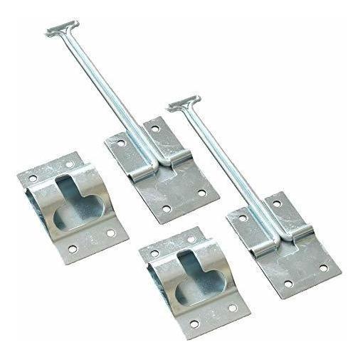 marr/ón Pestillos para puerta resistente paquete de 10 unidades para puertas de armarios doble rodillo