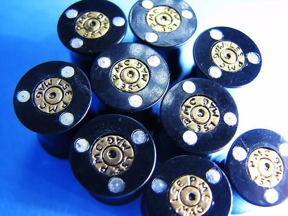 Alargador Em Acrílico (bala De Arma / Bullet) 10mm