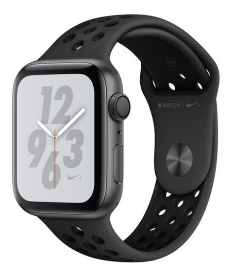 Apple Watch 4 44mm Nike Space Gray Preto Mu6l2ll/a