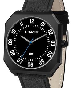 Relógio Lince Masculino Couro Preto - Mqc4500s P2px