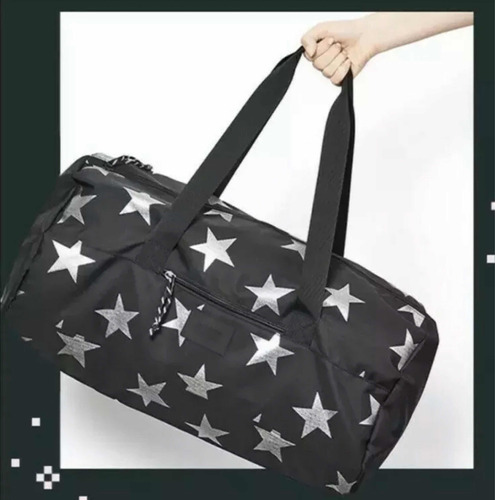 Imagen 1 de 9 de Victorias Secret Duffle Gym Bag Mochila Pink Estrellas