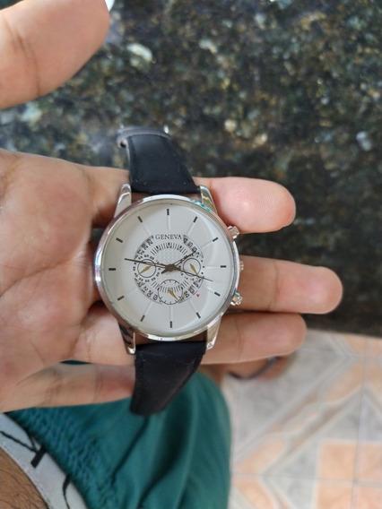Relógio Geneva Com Calendário