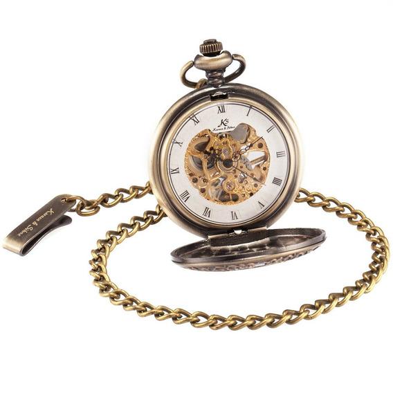 Mecânico Bolso Relógio Esqueleto Discar Romano Numerais Bols