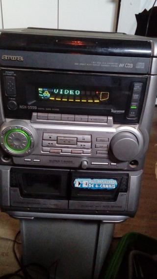 Som Aiwa Nsx S559 P/ Peças Ou Conserto